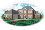 Colonial House Plan Front of Home - 087D-0799 | House Plans and More