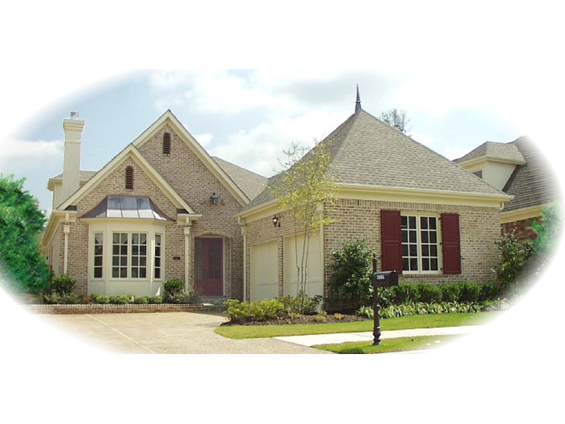 Country French Home Plan Front of Home - 087D-0800 | House Plans and More
