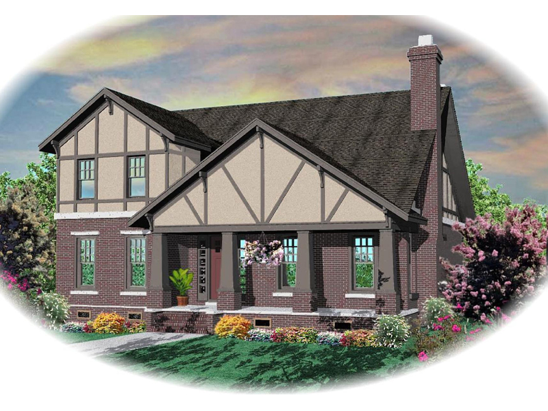English Tudor House Plan Front of Home - 087D-0804 | House Plans and More