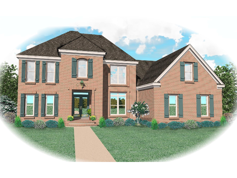 European House Plan Front of Home - 087D-0806 | House Plans and More