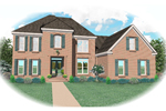 Colonial Floor Plan Front of Home - 087D-0806 | House Plans and More