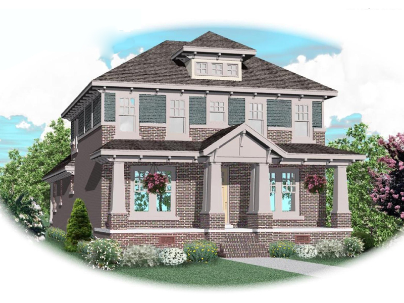 Craftsman House Plan Front of Home - 087D-0808 | House Plans and More