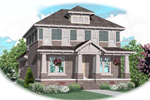 Traditional House Plan Front of Home - 087D-0808 | House Plans and More