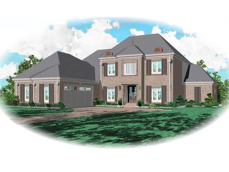 European House Plan Front of Home - 087D-0814 | House Plans and More