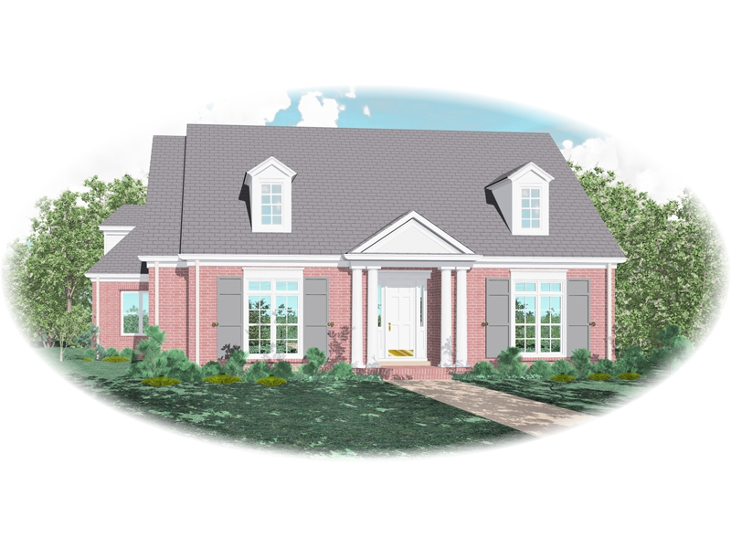 Colonial Floor Plan Front of Home - 087D-0816 | House Plans and More