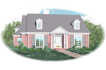 Cape Cod and New England Plan Front of Home - 087D-0816 | House Plans and More