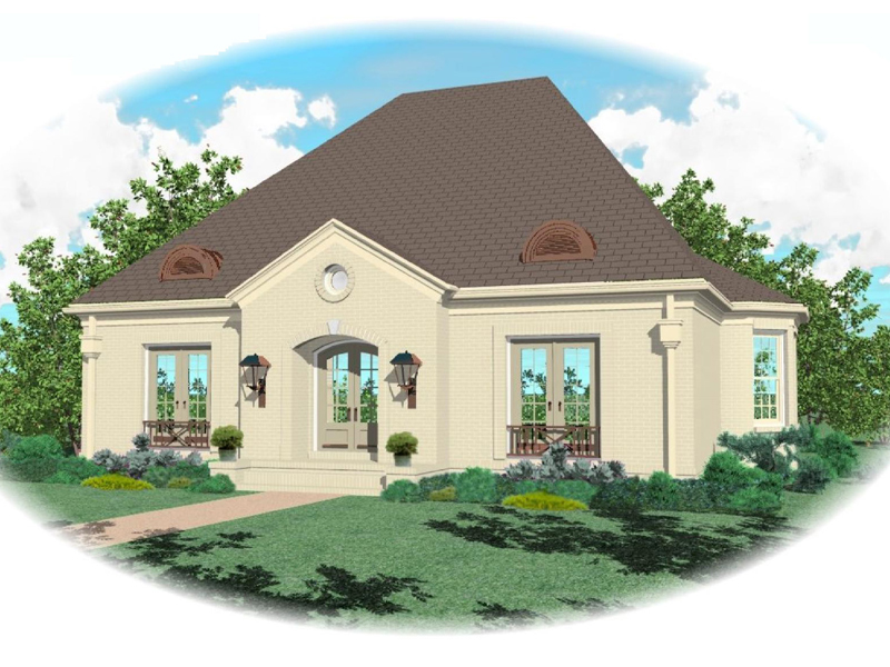 Luxury House Plan Front of Home - 087D-0818 | House Plans and More