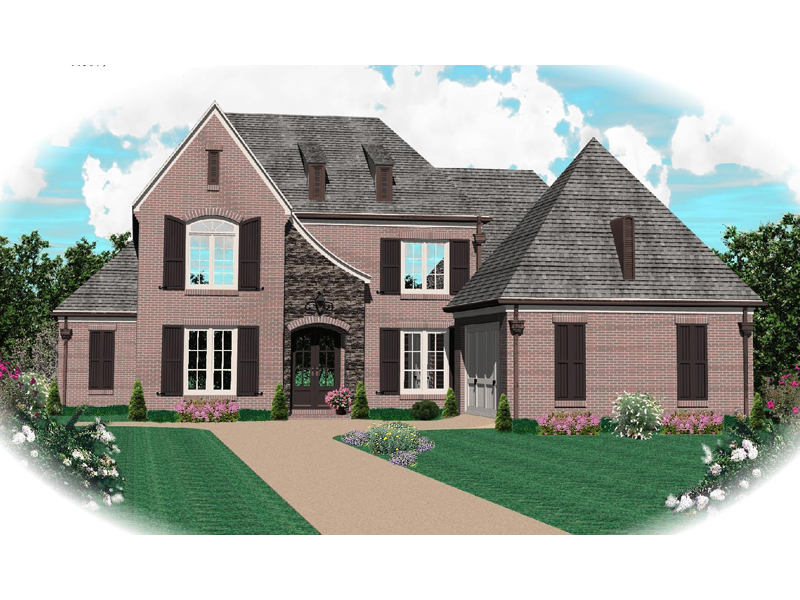 Country French House Plan Front of Home - 087D-0819 | House Plans and More
