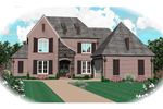Country French Home Plan Front of Home - 087D-0819 | House Plans and More