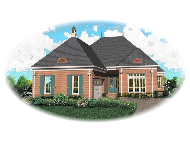 Southern House Plan Front of Home - 087D-0821 | House Plans and More