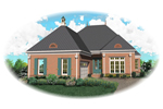 European House Plan Front of Home - 087D-0821 | House Plans and More