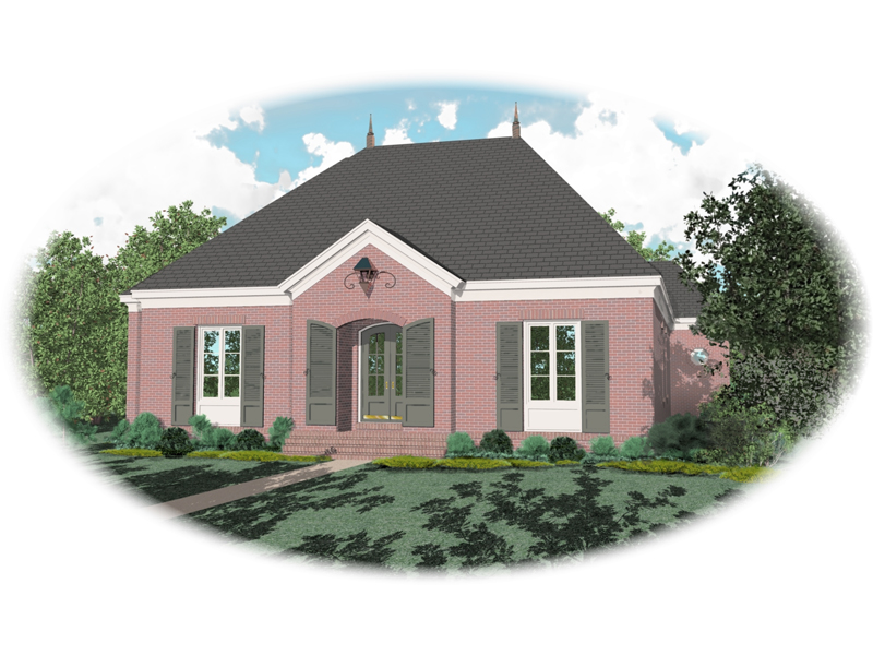 Traditional House Plan Front of Home - 087D-0824 | House Plans and More