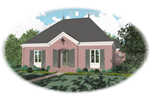 Southern House Plan Front of Home - 087D-0824 | House Plans and More