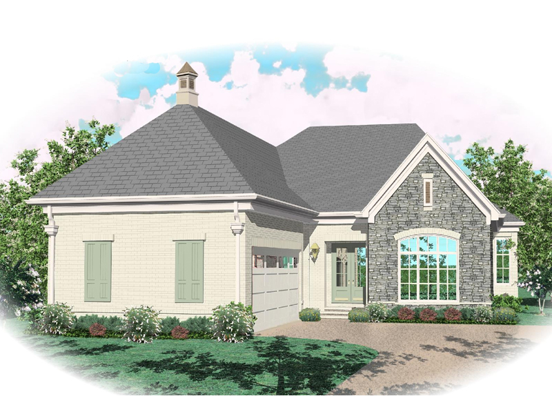 European House Plan Front of Home - 087D-0825 | House Plans and More
