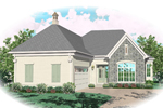 Sunbelt Home Plan Front of Home - 087D-0825 | House Plans and More