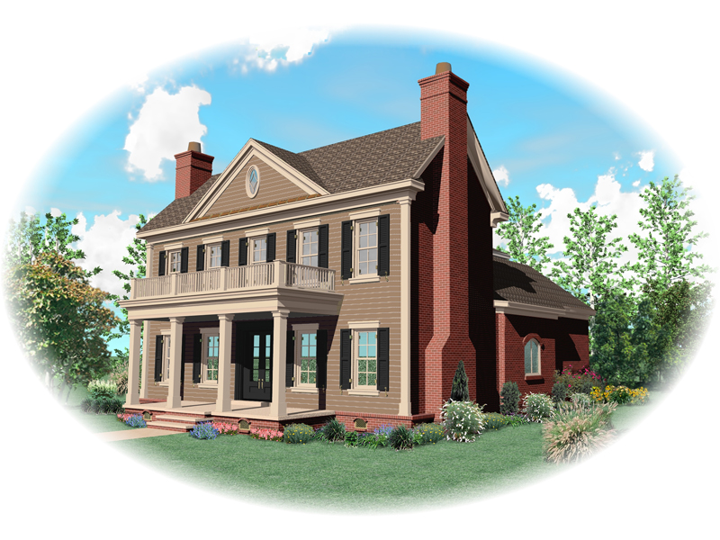 Luxury House Plan Front of Home - 087D-0826 | House Plans and More