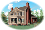 Colonial Floor Plan Front of Home - 087D-0826 | House Plans and More