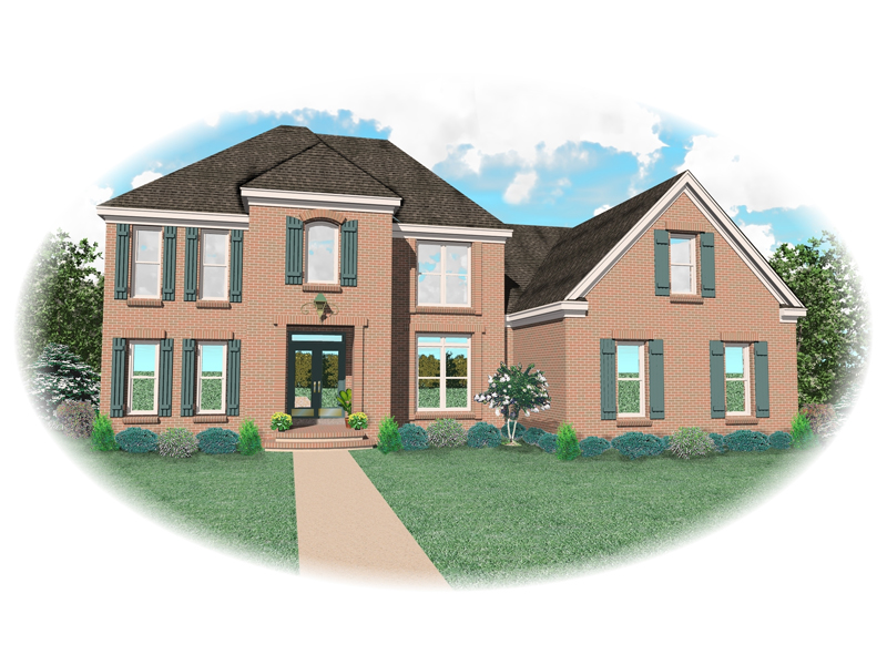 Traditional House Plan Front of Home - 087D-0828 | House Plans and More