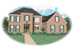 Colonial House Plan Front of Home - 087D-0828 | House Plans and More