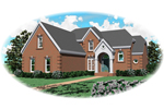 Greek Revival Home Plan Front of Home - 087D-0830 | House Plans and More