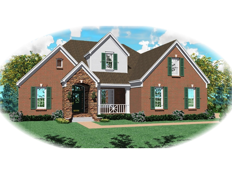 Traditional House Plan Front of Home - 087D-0832 | House Plans and More