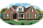Farmhouse Plan Front of Home - 087D-0832 | House Plans and More