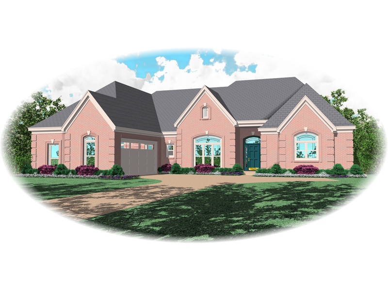 European House Plan Front of Home - 087D-0840 | House Plans and More