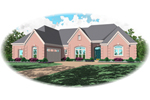 Traditional House Plan Front of Home - 087D-0840 | House Plans and More