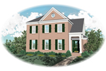 Colonial House Plan Front of Home - 087D-0847 | House Plans and More
