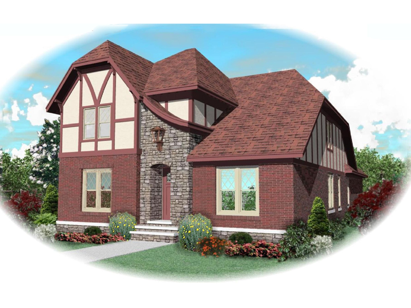 English Tudor House Plan Front of Home - 087D-0848 | House Plans and More