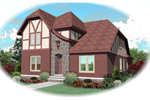 Tudor House Plan Front of Home - 087D-0848 | House Plans and More