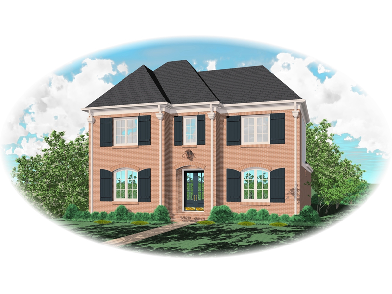 Colonial Floor Plan Front of Home - 087D-0850 | House Plans and More