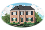 Traditional House Plan Front of Home - 087D-0850 | House Plans and More