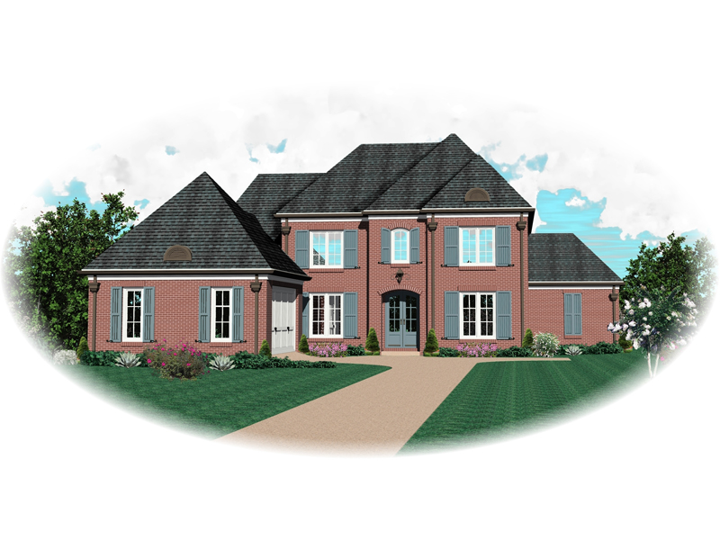Colonial Floor Plan Front of Home - 087D-0861 | House Plans and More