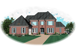 European House Plan Front of Home - 087D-0861 | House Plans and More