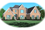 European House Plan Front of Home - 087D-0866 | House Plans and More