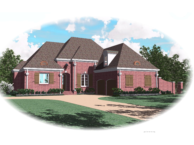 Traditional House Plan Front of Home - 087D-0869 | House Plans and More