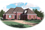European House Plan Front of Home - 087D-0869 | House Plans and More