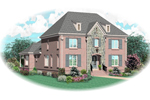 Colonial Floor Plan Front of Home - 087D-0870 | House Plans and More