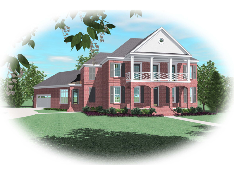Colonial Floor Plan Front of Home - 087D-0875 | House Plans and More