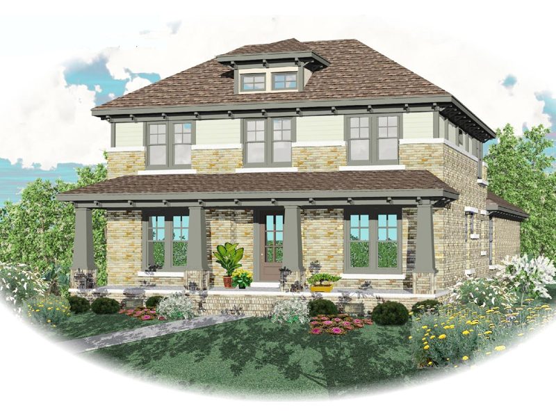 Arts and Crafts House Plan Front of Home - 087D-0876 | House Plans and More