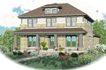 Vacation Home Plan Front of Home - 087D-0876 | House Plans and More