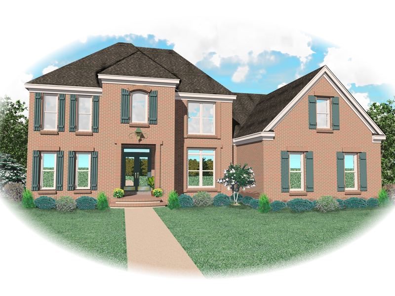 Colonial House Plan Front of Home - 087D-0877 | House Plans and More