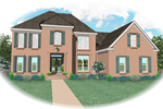 Traditional House Plan Front of Home - 087D-0877 | House Plans and More