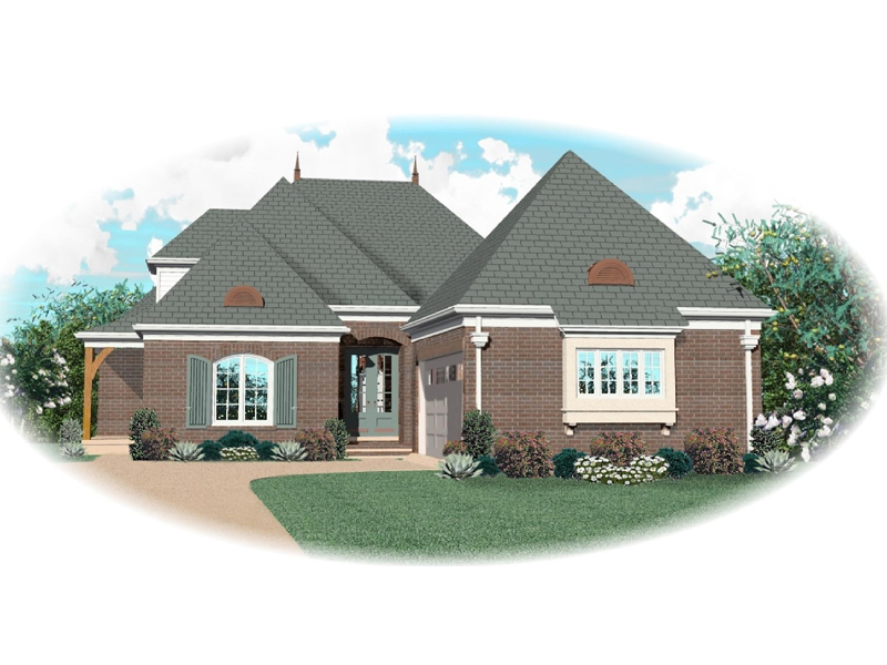 European House Plan Front of Home 087D-0883