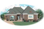 Southern House Plan Front of Home - 087D-0883 | House Plans and More