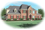 Colonial House Plan Front of Home - 087D-0884 | House Plans and More