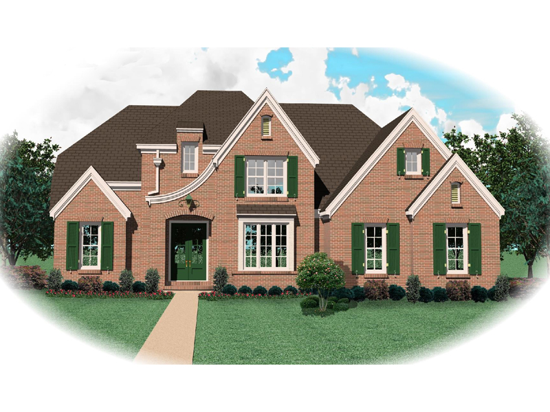 Country French Home Plan Front of Home - 087D-0888 | House Plans and More