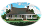 Country House Plan Front of Home - 087D-0889 | House Plans and More