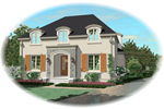 Adobe and Southwestern Plan Front of Home - 087D-0890 | House Plans and More